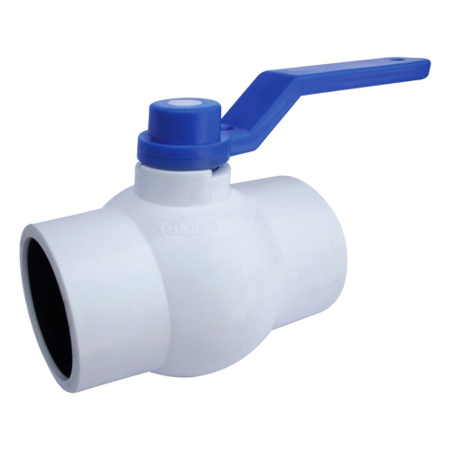 Aquazen Long Handle Solid Ball Valve - White MS Plate (Agriculture)