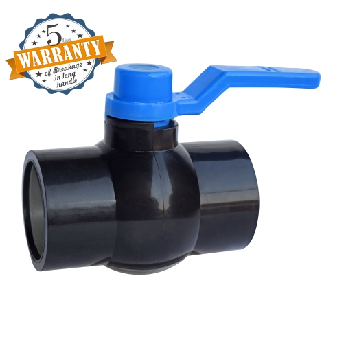 Aquazen Long Handle Solid Ball Valve -Black MS Plate (Agriculture)