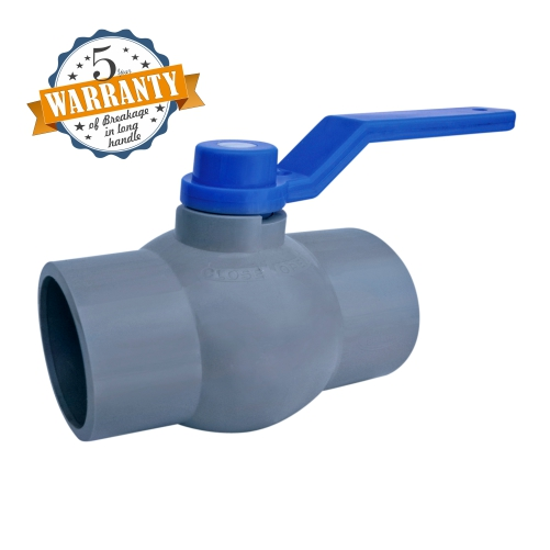 Aquazen Long Handle Solid Ball Valve - Gray MS Plate (Agriculture)